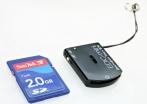 Миниатюрный цифровой диктофон Edic Mini Tiny+ B76, время записи до 150 ч, размер 30х25х6 мм, автономность 25 ч, USB