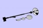 Шмель 3N досмотровые зеркала, 4 зеркала, светодиодный фонарь, укладка, длина штанги 0,6-2м