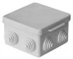 Коробка распаячная для открытой проводки 80*80*50мм, 7 входов (гермовводы), IP54