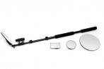Досмотровое устройство Сфинкс ДУ-104. 4 досмотровых зеркала, 100х60, диаметр 100, 160 и 220 мм, на раздвижной штанге 2000 мм, фонарь